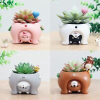 Upside Down Animal Resin Planters Cute Mini Flower Pots for Bonsai Home Garden