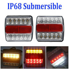 2X Rear LED Submersible Trailer Tail Lights Kit Boat Marker Truck Waterproof ABS