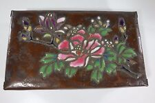 Antique Japanese ENAMEL BOX CLOISONNE Copper / Ando Jubei Moriage type