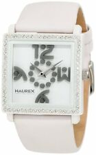 Haurex Italy Women's WF369DWW White Diverso PC Square Swarovski Watch