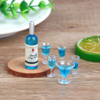 6Pcs/set 1:12 Dollhouse Miniature Cocktail Wine Cups Doll Kitchen Accessories YK