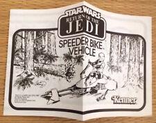 Vintage Star Wars Jedi Speeder Bike Vehicle Original Instruction Manual 1983!