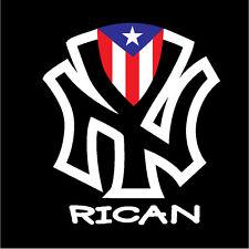 PUERTO RICO CAR DECAL STICKER  NEW YORK RICAN  FLAG #07
