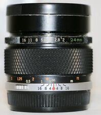 Olympus OM Zuiko MC Auto-W  24mm f/2 Wide Angle Fast Lens