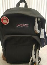 Jansport Backpack Cordura Black and Tan Right Pack Bag W/ 15 inch Laptop Sleeve