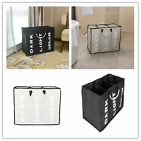 Foldable Laundry Sorter Hamper Clothes Storage Basket Bin Organizer Washing Bag