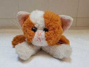Tyco Kitty Kitty Kittens purring Cat Vintage Soft Stuffed Toy Plush Cuddly Teddy