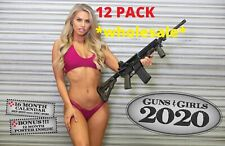 2020 GUNS AND GIRLS DELUXE WALL CALENDAR 12 PACK wholesale tactical