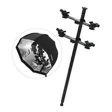 Four Swivel Hot Shoe Flash Bracket Holder Mount to Light Stand For DSLR Flash