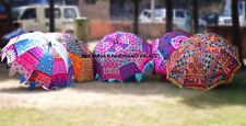 5 PC Wholesale Lot Indian Garden Umbrella Embroidered Throw Patio Sun Shade Deco