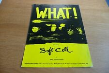 SOFT CELL WHAT ORIGINAL UK 1982 SHEET MUSIC SYNTH POST PUNK