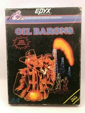 VINTAGE 1984 OIL BARONS STRATEGY VIDEO BOARD GAME FOR APPLE EPYX PC COMPUTER