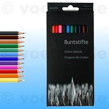 36 Stück Buntstifte Malstifte Colour pencils Bunt-Stifte Zeichenstifte 12 Farben