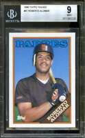 Roberto Alomar Rookie Card 1988 Topps Traded #AT BGS 9