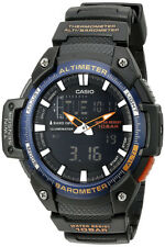 Casio Men's Twin Sensor Analog-Digital Black Tone S. Steel Watch SGW-450H-2BCF