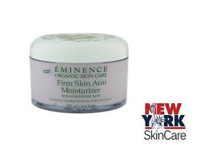 Eminence Firm Skin Acai Moisturizer Hyaluronic Acid Age Defying 250ml / 8.4oz