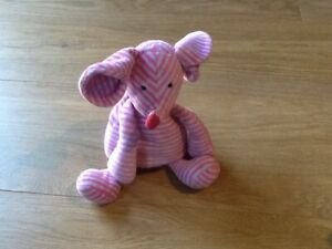 Jellycat pink striped mouse soft toy, beanie