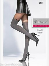 Carola melange tights by Fiore with a sheer top, Made in Europe