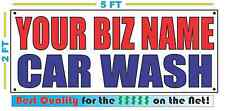CUSTOM NAME CAR WASH Banner Sign NEW