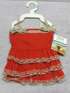 Martha Stewart Pets Size Small Doggy Ruffle Dress Color Red  For Pets new w tag