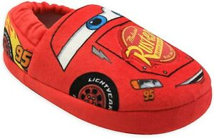 DISNEY CARS McQUEEN Boys Plush Slippers House Shoes Sizes 7-8, 9-10 or 11-12 NWT