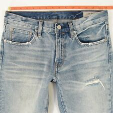 Ladies Womens AllSaints MUSE Slim Cropped Blue Jeans W29 L28 UK Size 10