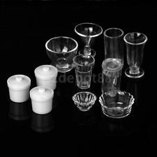 11 Dollhouse Miniature Kitchenware Tableware Jug Bowl Ice Cream Cup Glasses