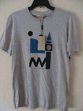 BURBERRY Brit Men's Pale Grey Melance Check Cotton Short SleeveT -shirt Tee