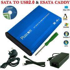 "SATA Aluminium 3.5"" USB2.0 External Hard Drive Computer HDD Caddy Case Enclosure"