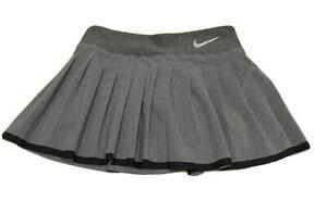 Women's Nike Skirt Tennis Golf Skort Stretch Gray Pleats Small EUC