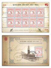Australia 2013 Colonial Heritage Kangaroo & Map Stamp Expo 2 Mini Sheets $10 CTO