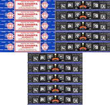 5 Box Nag Champa & 10 Box Super Hit Satya Baba Incense 2017 series 15gm / Box