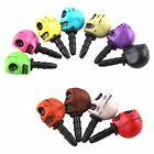 2Pcs Skull Anti Dust Earphone Jack Plug Stopper Cap For 3.5mm iPhone 4S HTC