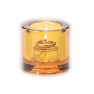 Tealight Candle Holder Amber Clear, Hollowick 5140A for HD-8 Liquid Wax Candle