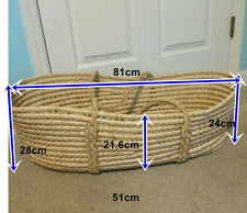 Moses Basket With Handles to Carry Around - Ideal gift for new baby born