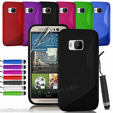 Soft Gel S Curve Cover Case for HTC One M7 M8 M9 X XL