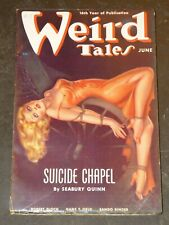 WEIRD TALES - June 1938 Pulp, Classic Brundage cover, Howard, Lovecraft