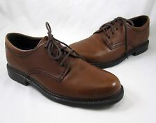 Rockport Capital Mens Dress Casual Shoes 8M Brown Leather Upper Lace Up
