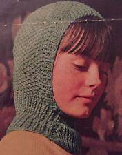 FCg24 Knitting Pattern - Kids Wooly Balaclava Hat - Children's Chunky Knit