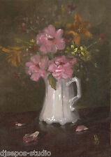 """Dramatic Mixed Bouquet"" Debra Sepos original oil 5"" x 7"" roses still life"