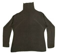 HELMUT LANG gray taupe Turtleneck Mock pullover sweater Size M knit top