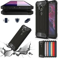 For Motorola Moto E5 Plus, E5 Play Go Hybrid Rugged Armor Shockproof Case Cover