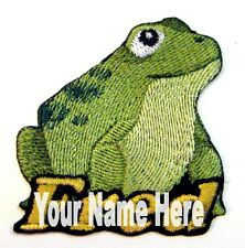 Rana / Toad Custom Hierro-Sobre Parche con Nombre Personalizado Gratis