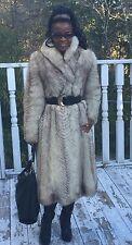 Fab Designer Full length White beige Fox Fur coat jacket bolero Stroller S 0-6