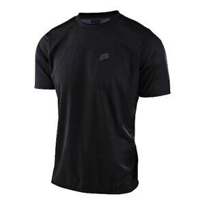 Troy Lee Designs 2021 Mens Flowline SS Bike Jersey Solid Black All Sizes