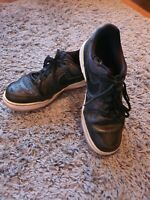 Nike Air Force 1 Women Black Leather Shoes Trainers Size Uk 4 Eur 37.5