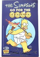 "Matt Groening Signed and inscribed The Simpsons ""Go For The Gold"" Comic Book Bec"