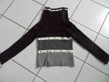 Pullover mit Reißverschluss im Kragen 36/38 MAZEL gestreift Acryl