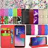 For Samsung Galaxy A6+ Plus 2018 - Flip Wallet Leather Case Cover + Touch Stylus