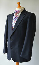 """Men's Bespoke Navy blue Striped Suit by M. W. & V. S. Getzels ,Chest 40"""" W35""""."""